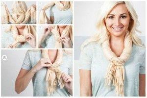 8 formas de usar una bufanda, encuentra el paso a paso aquí... http://www.1001consejos.com/formas-de-usar-una-bufanda/