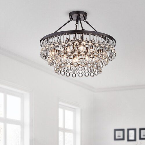 Three Posts Egremont 6 Light Unique Statement Tiered Chandelier Reviews Wayfair In 2020 Bedroom Ceiling Light Low Ceiling Chandelier Chandelier In Living Room