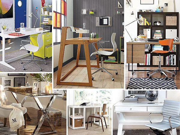 20 Stylish Home Office Computer Desks by DecoistOffices Desks, Offices Spaces, Offices Computers, Computers Desks, Interiors Design, Offices Ideas, Metals Desks, Desks Ideas, Home Offices