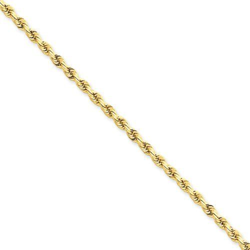 7 Inch 14k 3mm D/C Rope with Lobster Clasp Chain Gold Collection. $422.55. Save 36%!