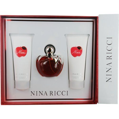 Nina Ricci Nina Set (Eau de Toilette Spray and Body Lotion and Shower Gel) by Nina Ricci. $72.44. a rich aroma of florals fruit and woodsy greens.