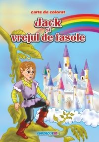 Jack si vrejul de fasole - Carte de colorat + poveste