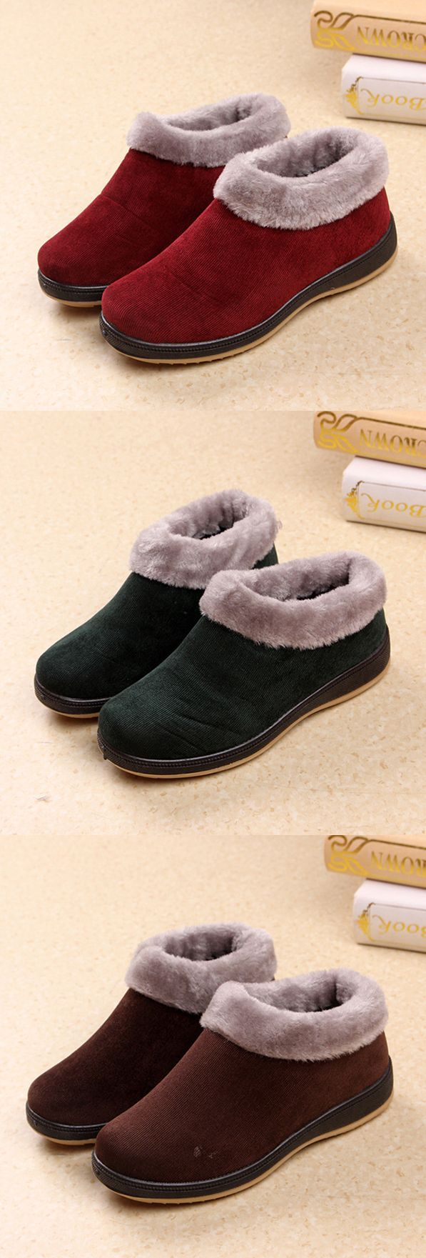 US$17.25 Fur Lining Warm Casual Boots For Women#winter shoes