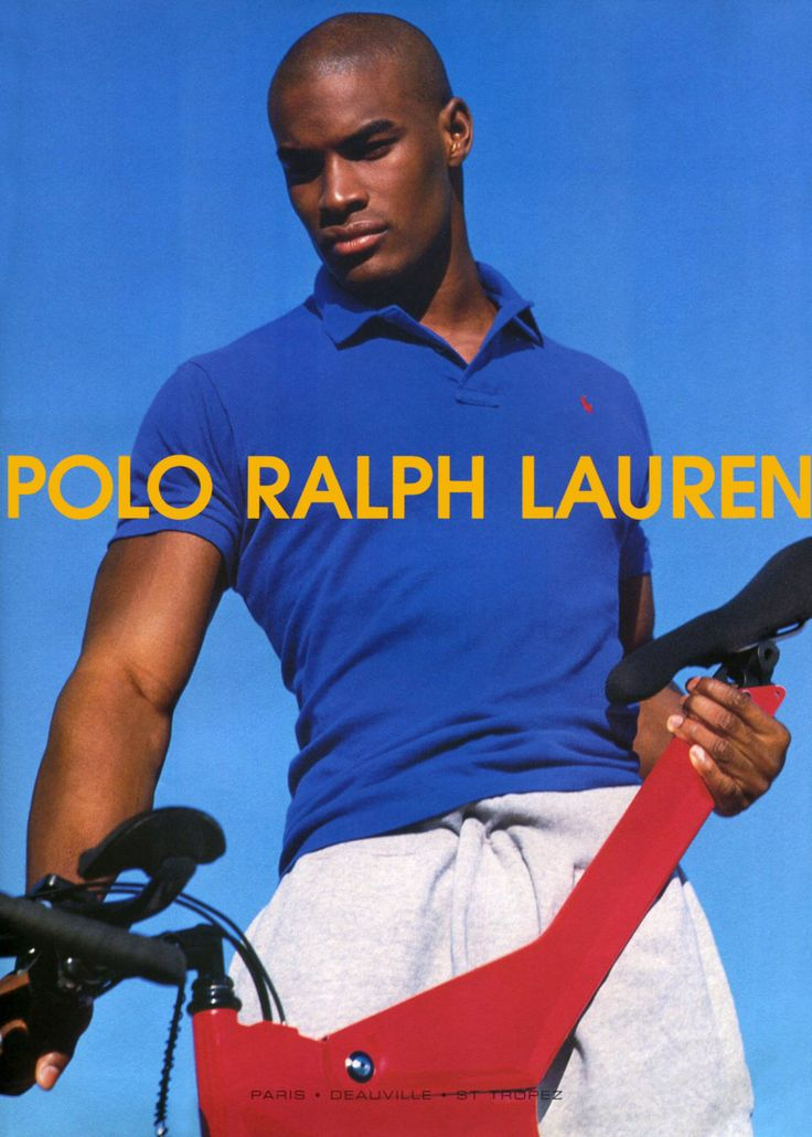 Tyson Beckford, Ralph Lauren  ........I remember walking back and forth in the men's section just to see his poster.....lol!!!  Too sexy!!