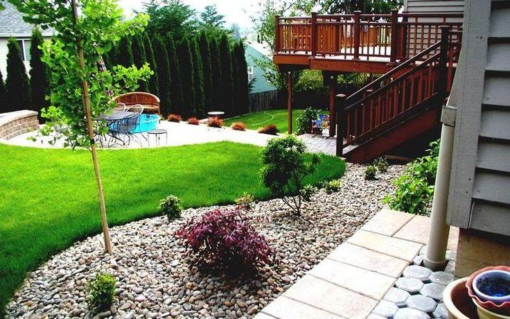 aménager un petit jardin, coin de repos et aire de jeux pour les enfants