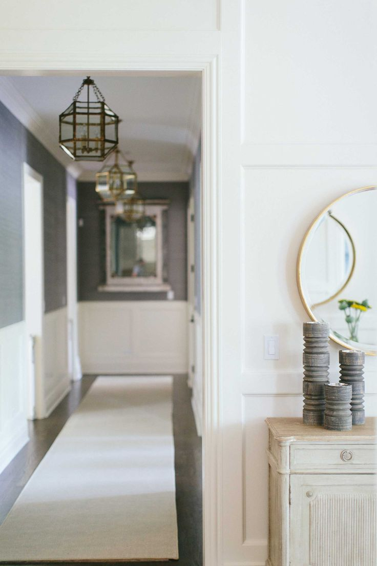 Millwork | White Trimwork | Hallway | Russell Residence | Kate Marker Interiors
