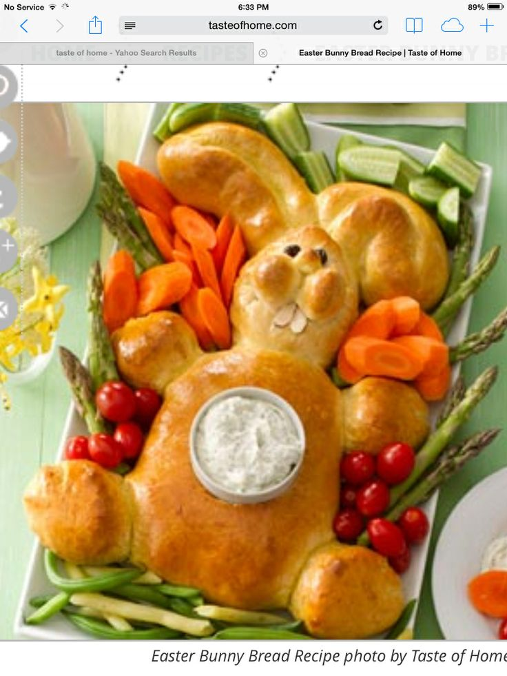 Easter bread and dip