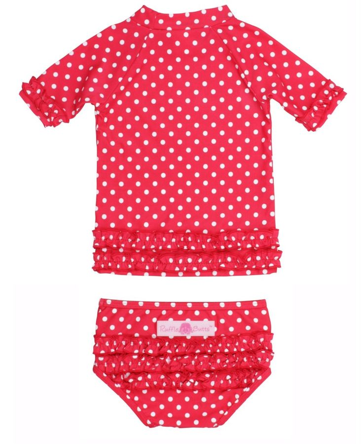 Infant girl swimsuits with rash guard-2073