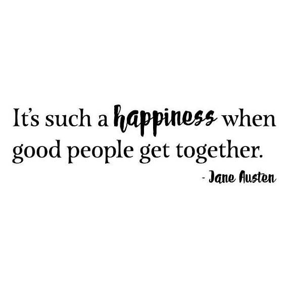 wall quote decal happiness when good people get together family