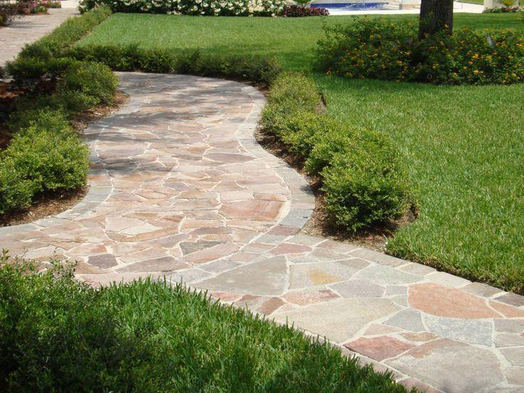 Eco Outdoor porphyry crazy paving curved paths | Eco Outdoor | porphyry split…