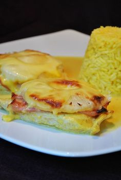 Küchenzaubereien: Überbackene Putenschnitzel mit Schinken & Ananas