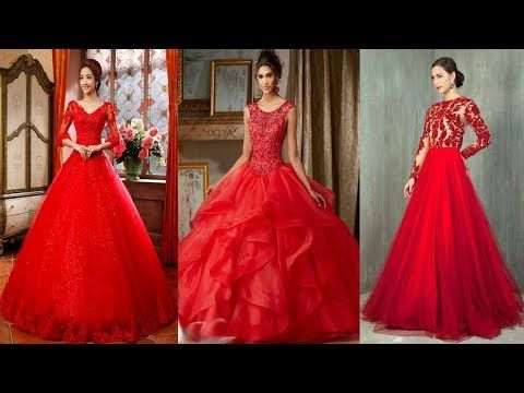 Top 10 Hot Red Long Frock Design Latest Red Frok Dress Designs Party Wea...