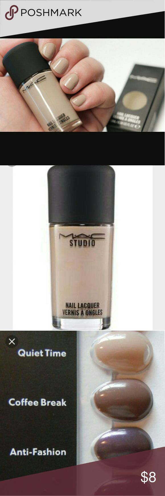 *1 left Mac Nail Lacquer Description New in Box  Authentic mac nail lacquer   Color:Quiet time  No pp No other sites  Price is firm MAC Cosmetics Makeup