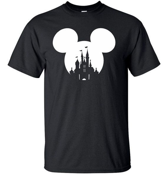 Mickey Mouse or Minnie Mouse Disney Castle T by MathesonGraphics