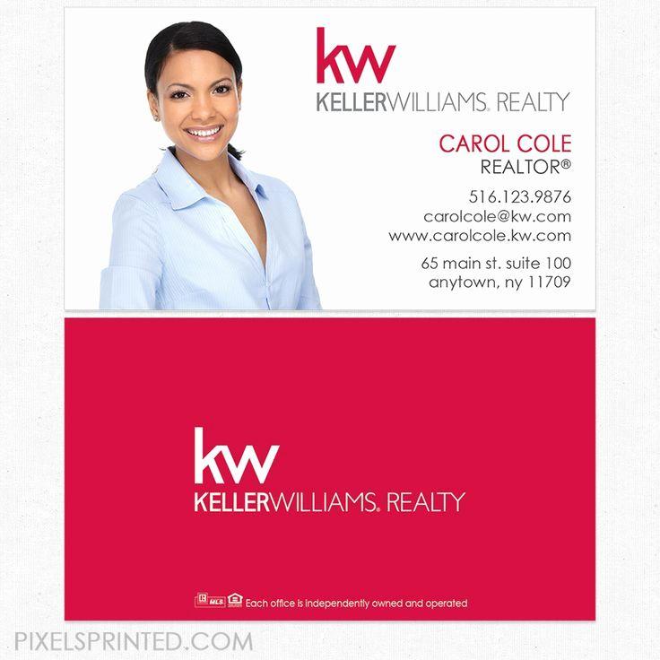 Keller Williams Business Card Unique Real Estate License Number