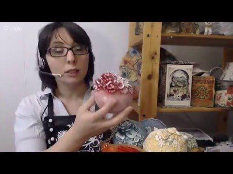 """#МК Дианы Январёвой """"Ёлочные шары из Италии..."""" Ручная работа - YouTube"""