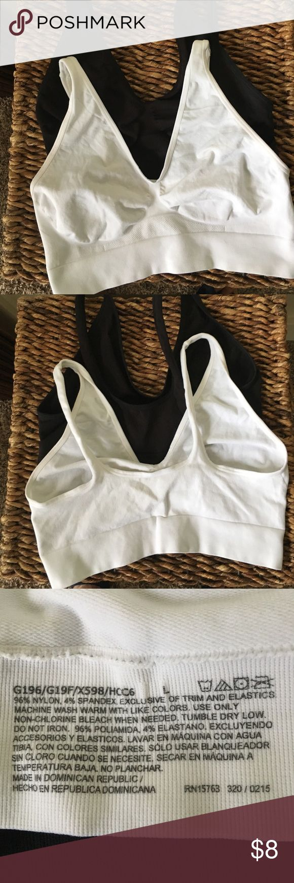 Black & white sports bras Black and white large sports bras Intimates & Sleepwear Bras
