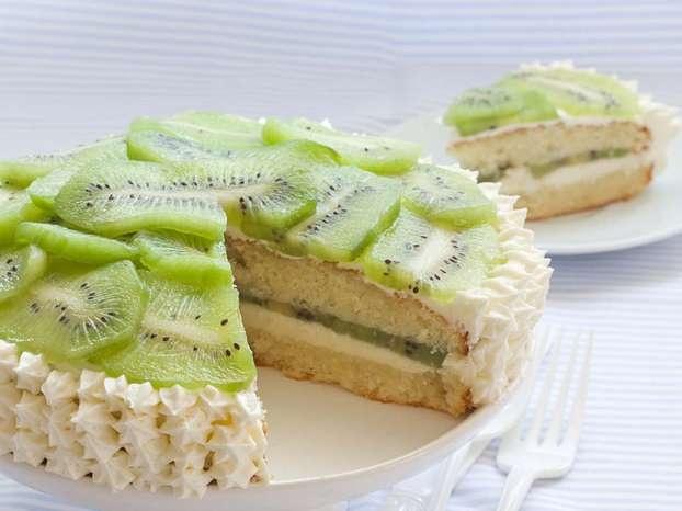 Torta al mascarpone e kiwi