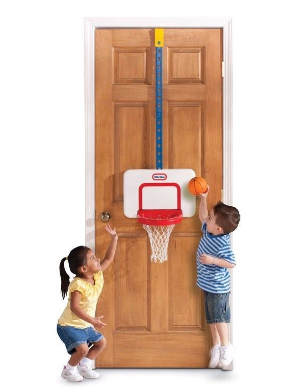Attach And Play Basketball Set Adjustable Indoor Outdoor Fun Gift Hobby Kids Toy  | eBay