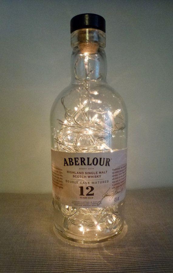 Bottle Lamp lovely shape ABERLOUR Whisky mains by CHANGEWORKSHOP