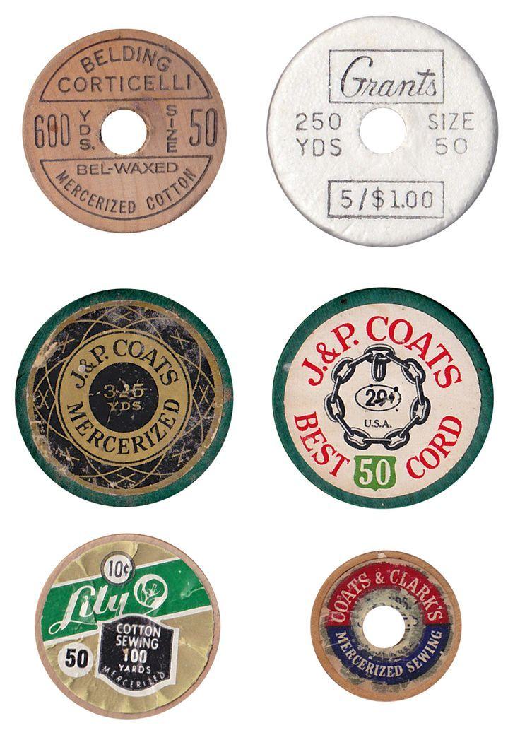 thread spool labels