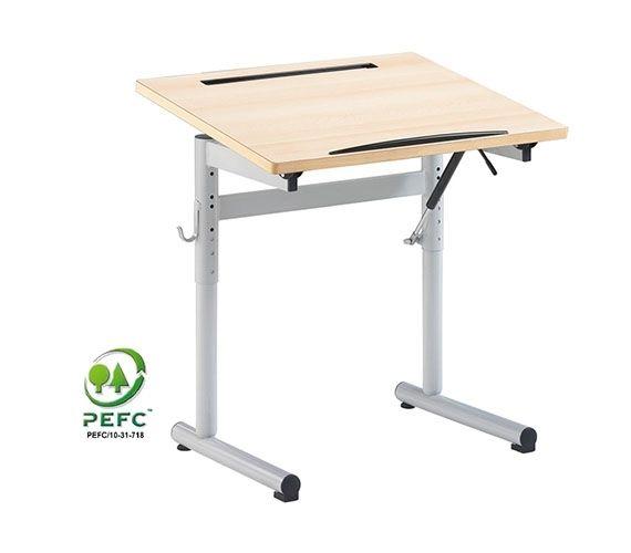 Table ergonomique réglable et plateau inclinable ERGON