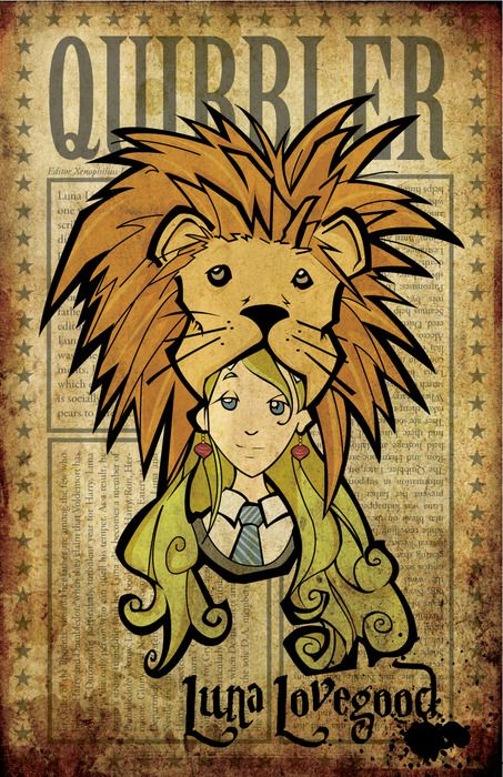Luna Lovegood - I wonder if the artist did more characters? Any leads?  I would love this painted on a tall tumbler. :)