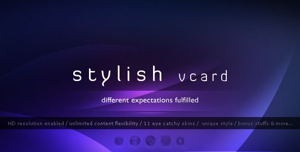 Stylish Vcard - 11 Modern Skins - HTML - ThemeForest Item for Sale