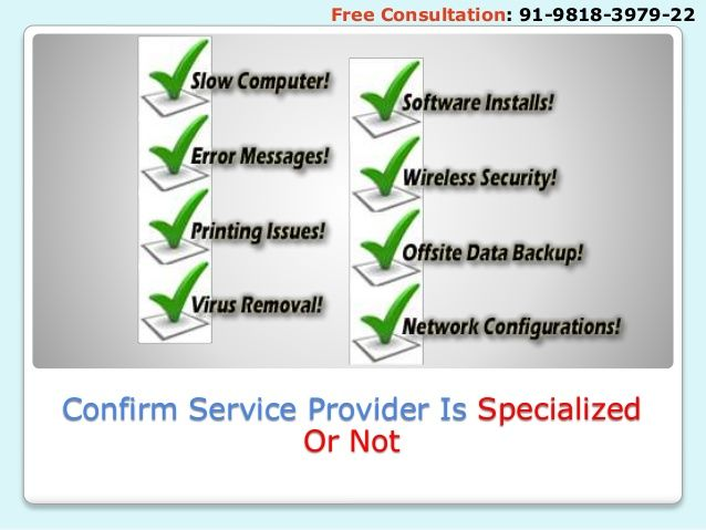 Confirm Service Provider Is Specialized Or Not Free Consultation: 91-9818-3979-22