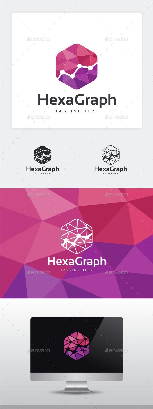 Hexa Graph Logo Template Vector EPS, AI. Download here: http://graphicriver.net/item/hexa-graph-logo/14546714?ref=ksioks