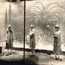 [Spring window display at the City of Paris department store]