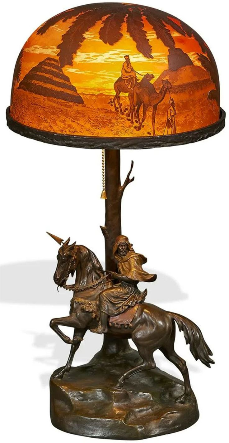 Austrian Bronze Figural Table Lamp with