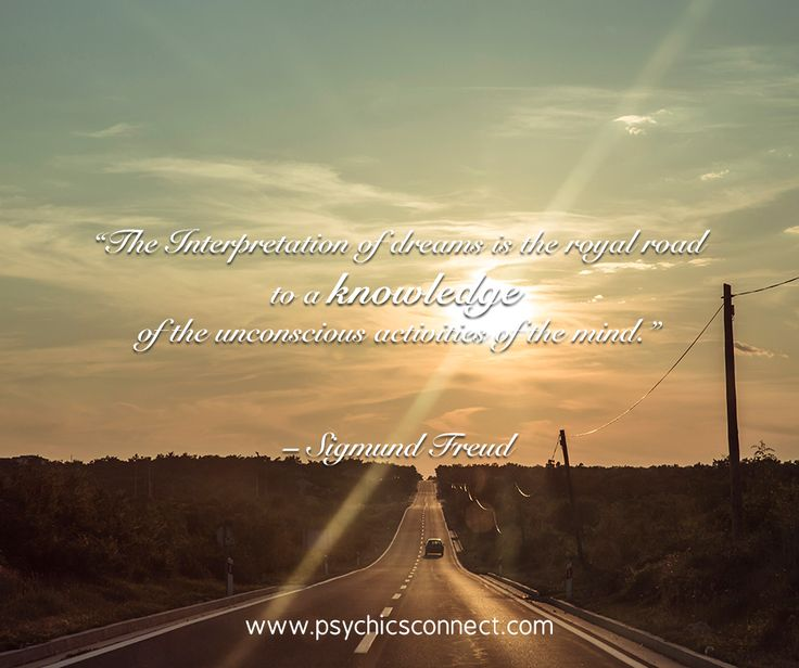 The Interpretation of dreams is the royal road to a knowledge of the unconscious activities of the mind. – Sigmund Freud