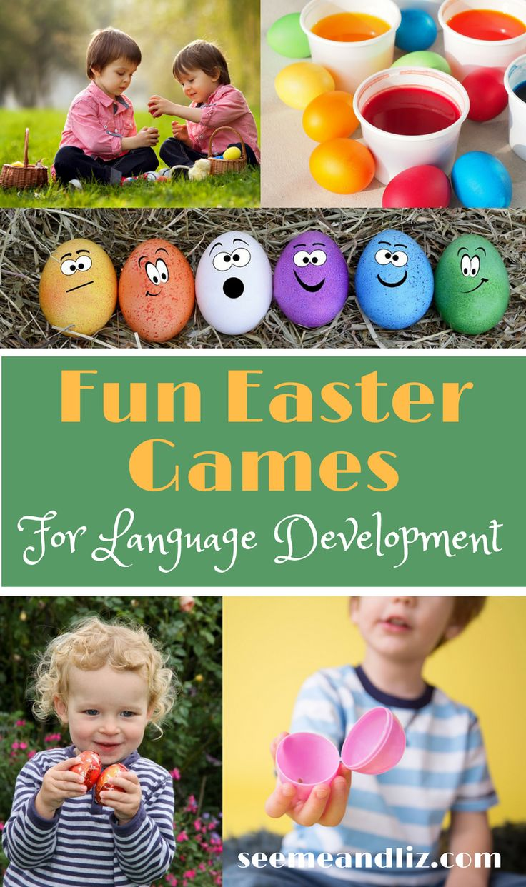 #Easter activities and games for #toddlers with a focus on speech and language development. #kidsactivities