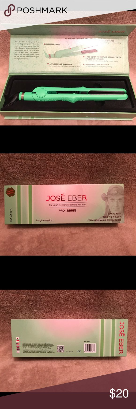 Jose Eber hair straightener like green Brand new, never used it. Works perfectly Jose Eber Other