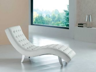 Ae7900 White 7900 Elegant Relaxing Leather Chaise