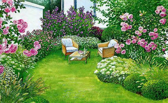 Две идеи ландшафтного дизайна для маленького сада  1