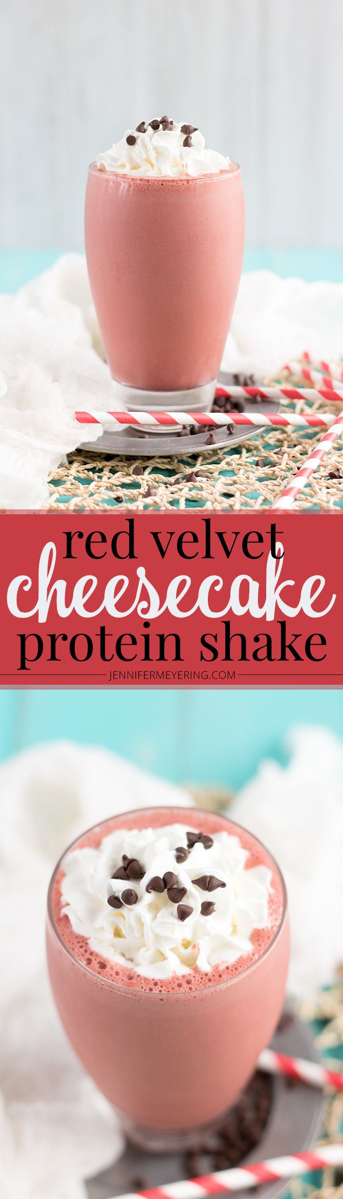 Red Velvet Cheesecake Protein Shake - Jennifer Meyering