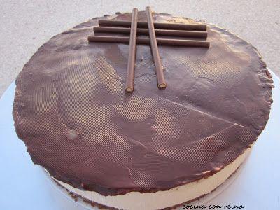 COCINA CON REINA: TARTA DE CHOCOLATE BLANCO con cobertura de chocola...