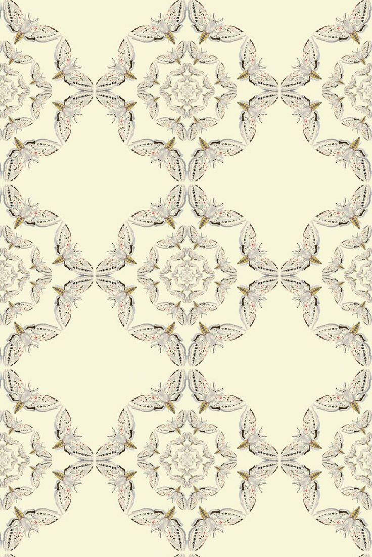 Timorous Beasties Wallcoverings - White Moth Circle  available at walnut wallpaper #wallpaper
