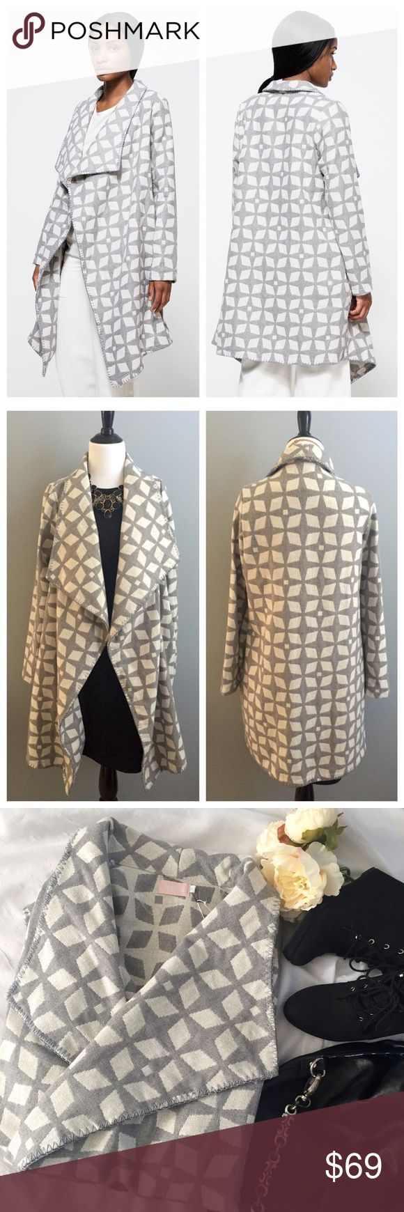 🆕 Farrow cardigan Comfortable yet makes a statement! Has side pockets with asymmetric hem. Open cardigan by Farrow is new with tags and never worn. Measurements: underarm to underarm 23 inches; shoulder to hem 36 inches; arm length 25 inches. Farrow Sweaters Cardigans