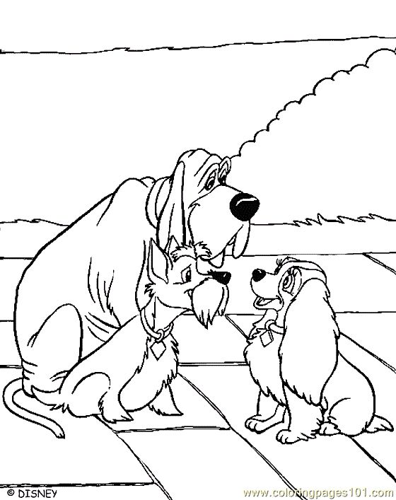61 best lady and the tramp coloring pages images on pinterest ... - Lady Tramp Coloring Pages