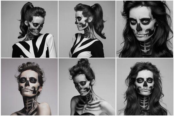 Skeleton Makeup Model Pack by crissie2389