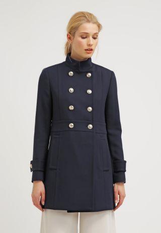 Palton Tommy Hilfiger femei elegant bleumarin