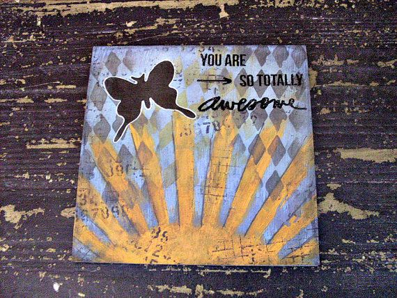 This card is ideal for teenagers, the industrial fans, or anyone who likes things just a little bit different. 'You are so totally awesome'.  By Crafting Emotion
