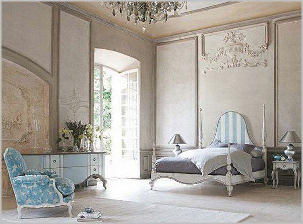 Спальня в стиле барокко, освещение