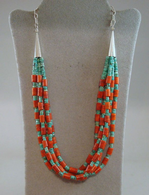 Native American jewelry--this is from the Santo Domingo Pueblo
