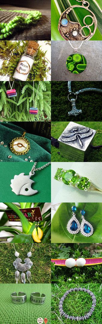 #Fresh #Jewelry by Gabbie on #Etsy #handcrafted #treasury #spring #summer #green #etsyaaa #gifts #forher