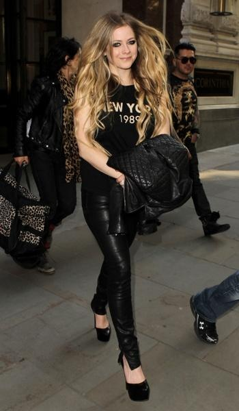 Avril Lavigne out and about in London