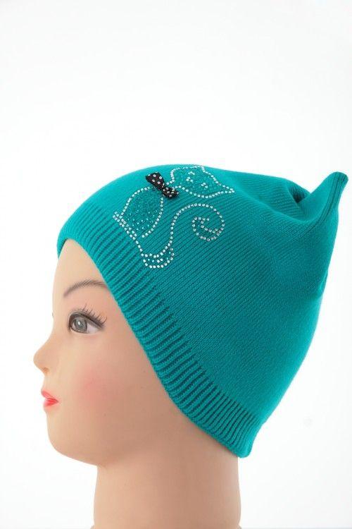 Шапка В0263 Цвет: лазурный Цена: 270 руб.  http://optom24.ru/shapka-v0263/  #одежда #женщинам #шапки #оптом24